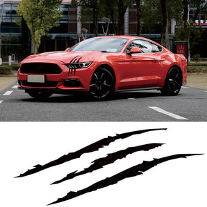 Auto Car Sticker Reflective Monster Scratch Stripe Claw Headlight Vinyl Decal US