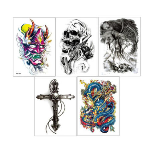 Set of 10 Half Sleeve Temporary Tattoo