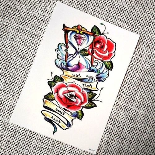 Large Temporary Tattoo Rose Flower Tattoo for Women Evil Eye Tattoo