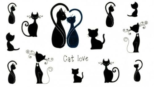 CAT LOVE TEMPORARY TATTOOS CAT LOVERS Temporary Tattoos Sticker for Women Fake