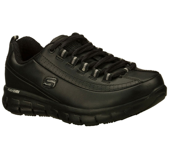 Skechers Women's Soft Toe Slip Resistant Athletic - 76550BLK