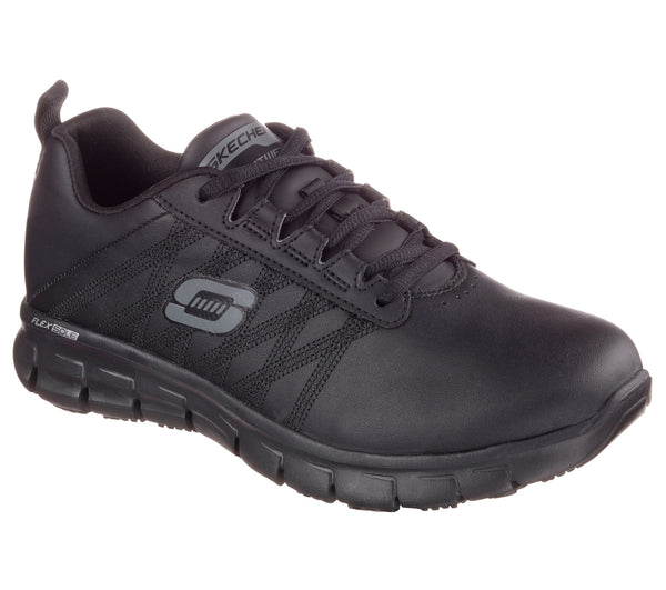 Skechers Women's Soft Toe Slip Resistant Athletic - 76576BLK