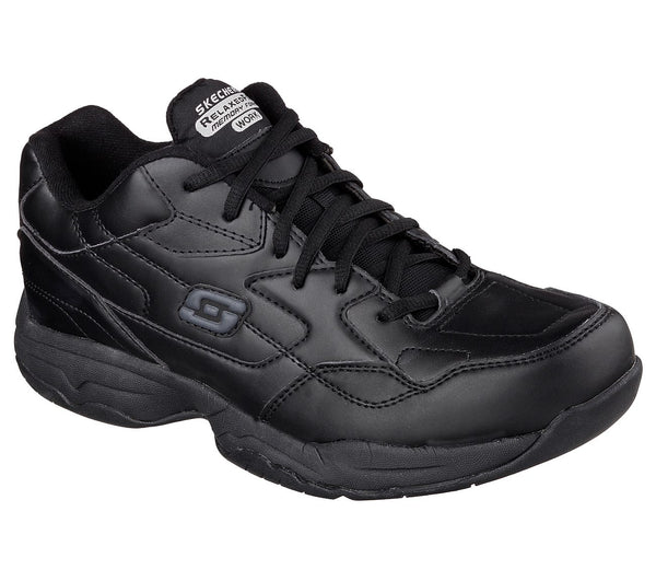 Skechers Men's Soft Toe Slip Resistant Athletic - 77032BLK