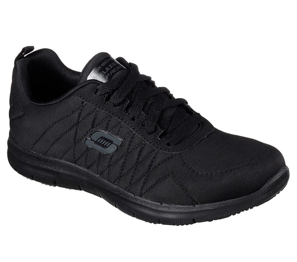 Skechers Women's Soft Toe Slip Resistant Athletic - 77204BLK
