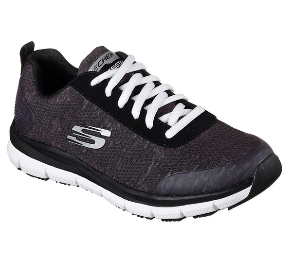 Skechers Women's Soft Toe Slip Resistant Athletic - 77217BKW