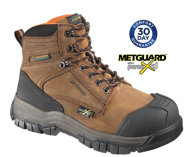 "Hytest K13562 - FootRests Men's 6"" Composite Toe Metatarsal Guard Boot"