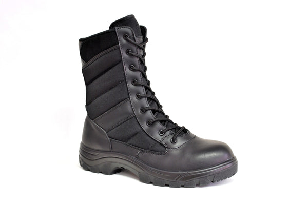 "Work Zone Men's 8"" Soft Toe Slip Resistant Side Zipper Boot - N877BLK"