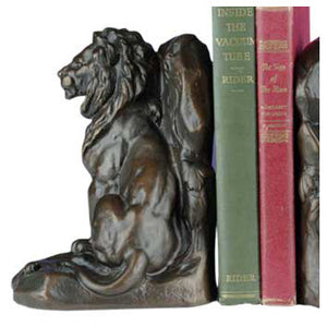 Lion and Mouse Bookends
