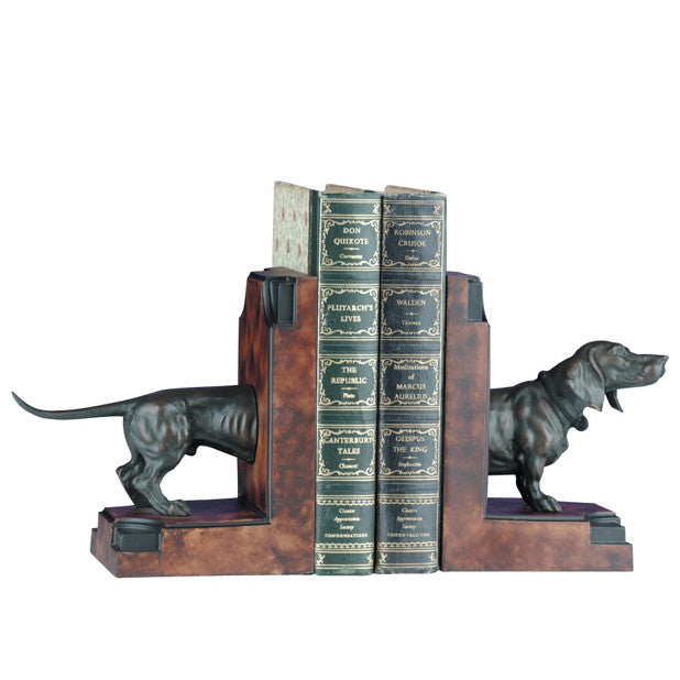 Dachshund Dog Bookends