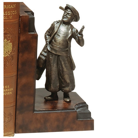 Golfer & Caddy Bookends