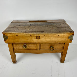 Antique Butchers Block c1900