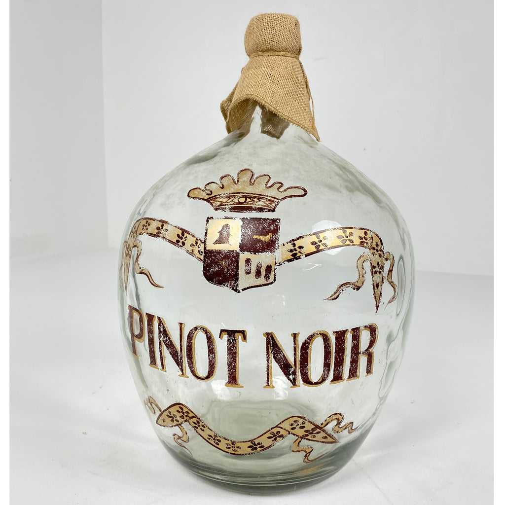 "Vintage Painted Wine Bottle ""Pinot Noir"""