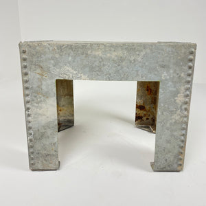 Vintage Galvanized Metal Side Table