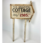 Vintage Wooden Cottage Sign