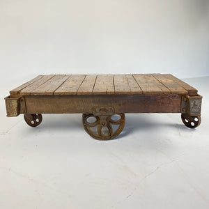 Antique Factory Cart/Coffee Table
