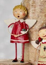 Tree Trimming Ornament, Boy and Girl