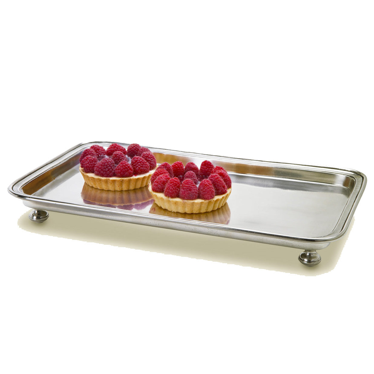 Footed Rectangle Service Tray