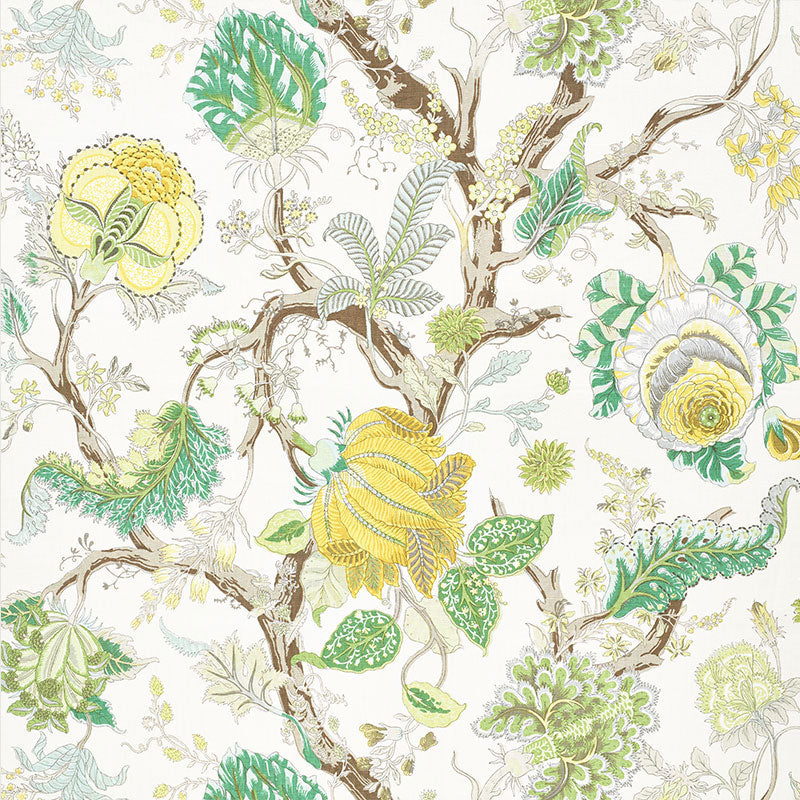 Indian Arbre - Citron Fabric
