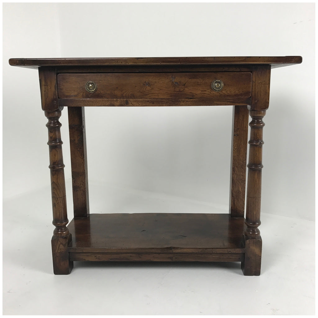 English Replica Single Drawer Serving Table