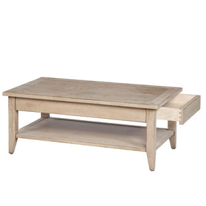 Horloger Small Coffee Table with Wooden Top