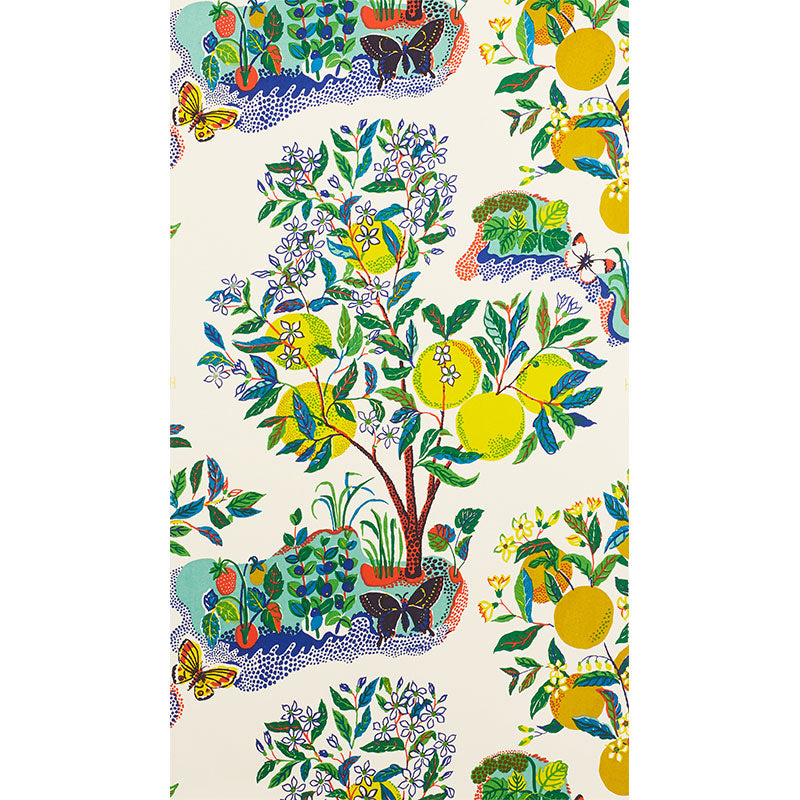 Citrus Garden - Primary Wallcovering