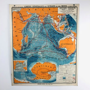 "Vintage School Map ""Ocean Indien"""