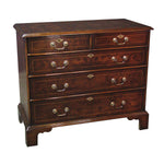 Burl Elm Five Drawer Chest