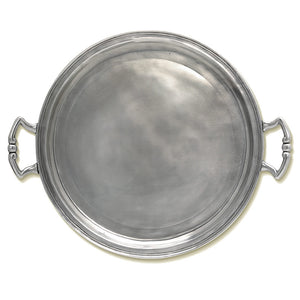 Round Tray with Handles