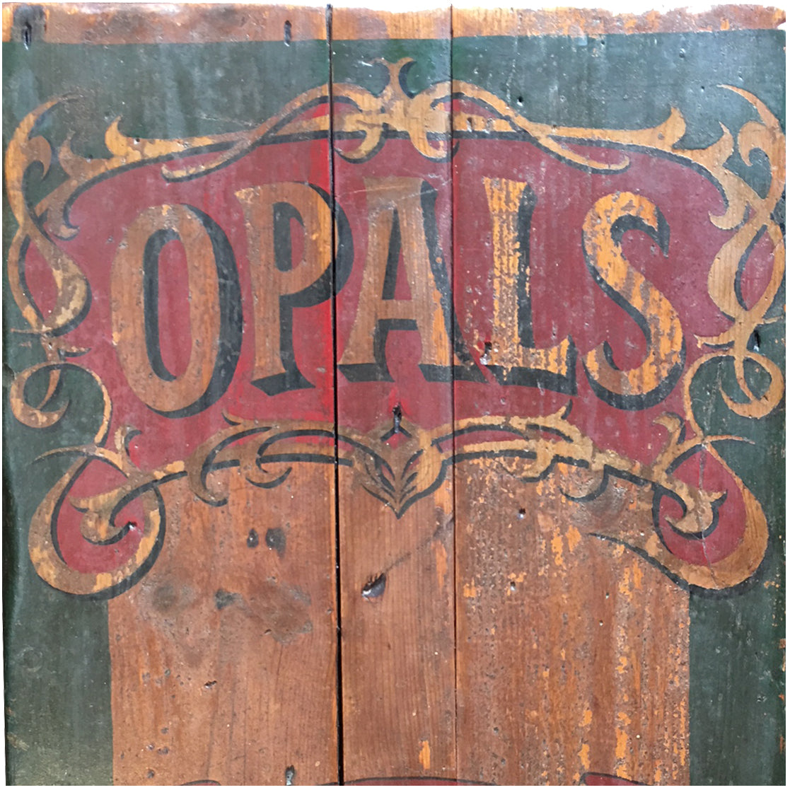 "English ""Opals Tobacco"" Pub Sign"