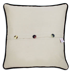 Cincinnati Hand-Embroidered Pillow