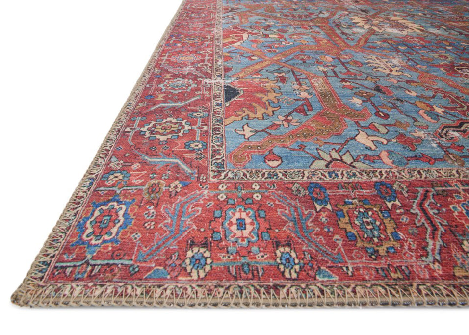 Loren Blue/Red Rug