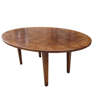 English Oval Tapered Leg Table