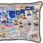 Air Force Embroidered Pillow