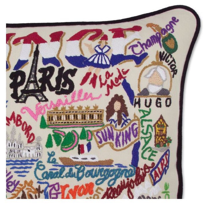 France Hand-Embroidered Pillow