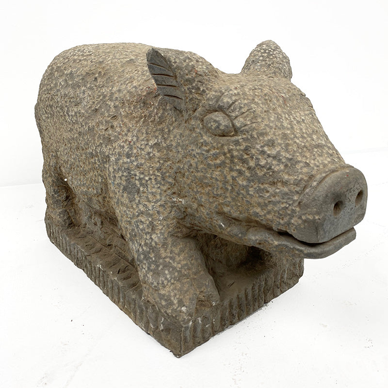 Napal Antique Stone Carved Pig c1900