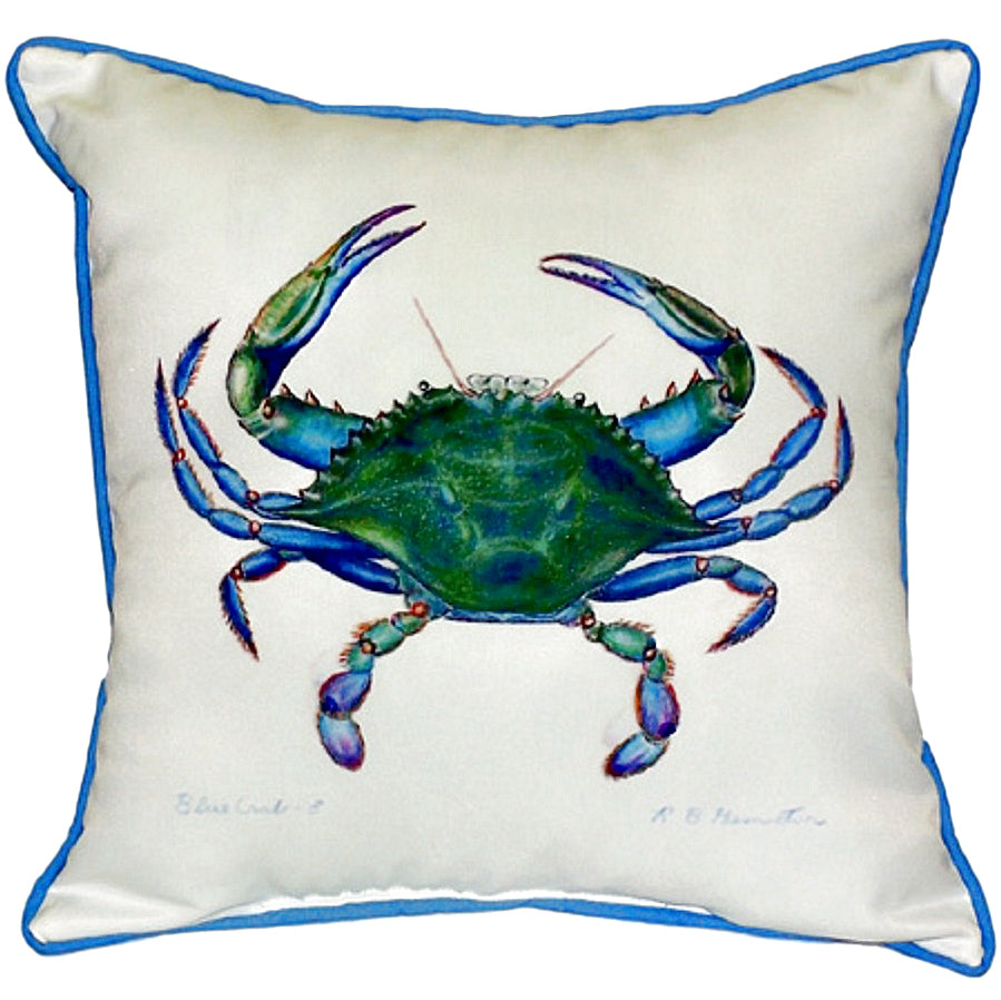 Male Blue Crab Indoor/Outdoor Pillow