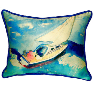Sailboat Indoor/Outdoor Pillow