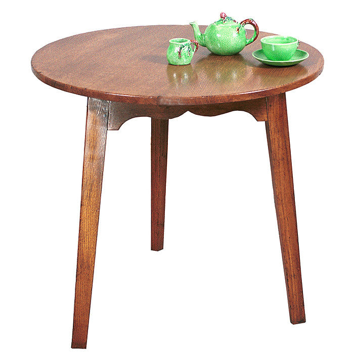 Cricket Table with Tapered Legs