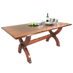 Refectory Sawbuck Table