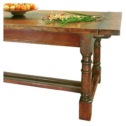 Refectory Extendible Table with Leaf Storage