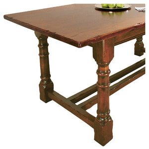 Refectory Table Gunbarrel Leg Twin Stretcher