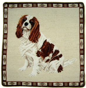 King Charles Spaniel Needlepoint Pillow