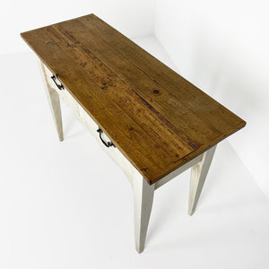 English Replica Painted Server with Reclaimed Antique Pine Top