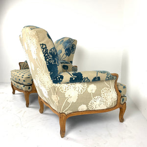 Pair of Oak Bergere Chairs c1930