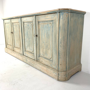 Sideboard with Four Doors Distressed Blue