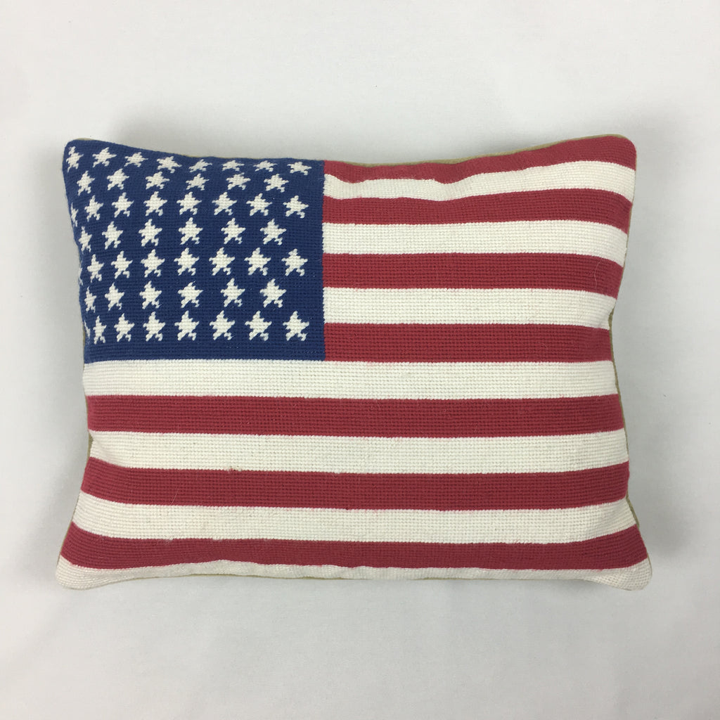 USA Flag Grospoint Pillow