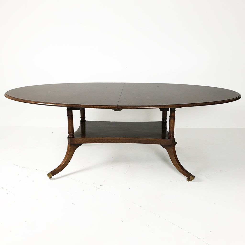 English Oval Extending Birdcage Table