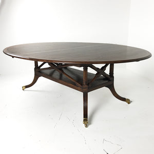 Custom English Oval Birdcage Table