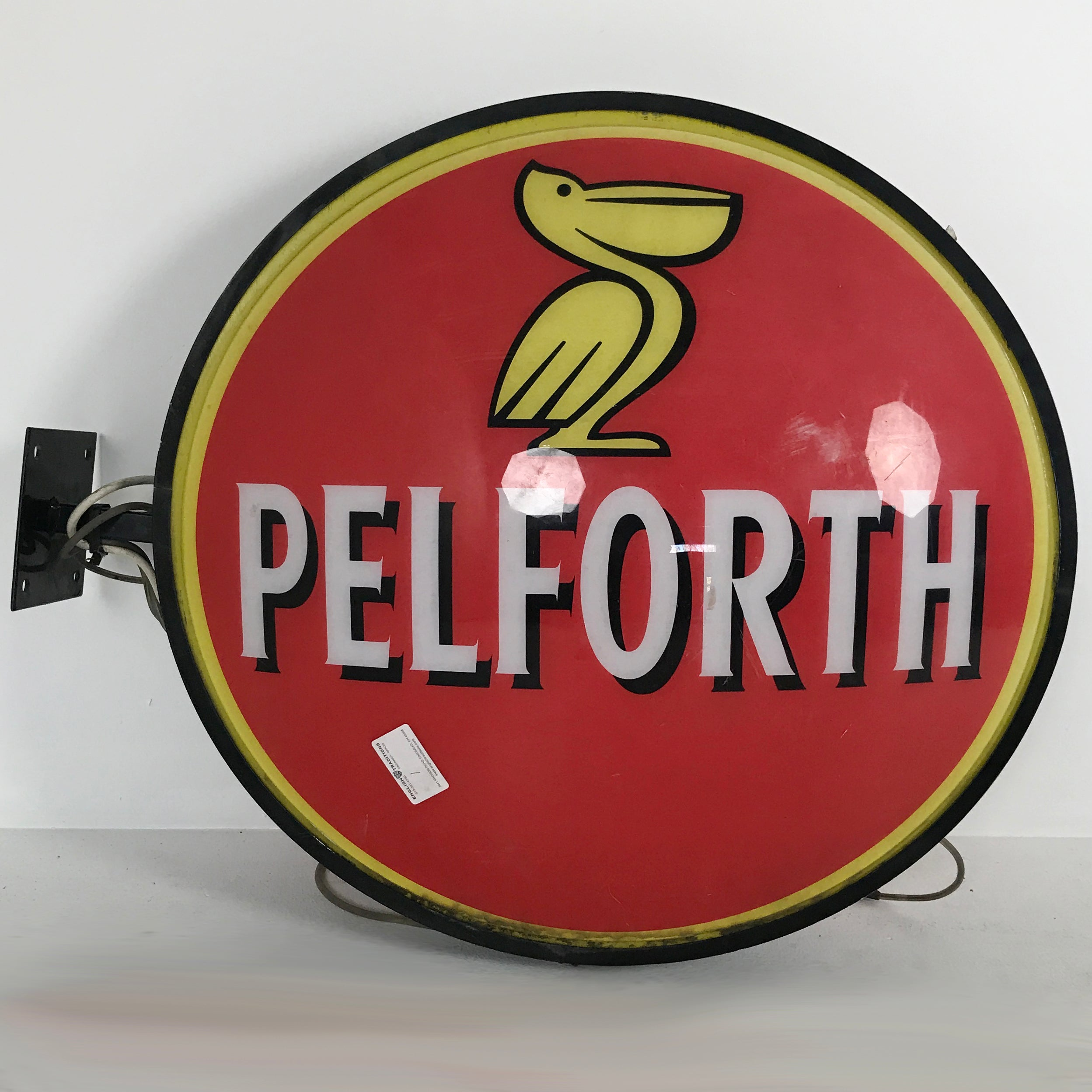"English ""Pelforth"" Beer Sign"