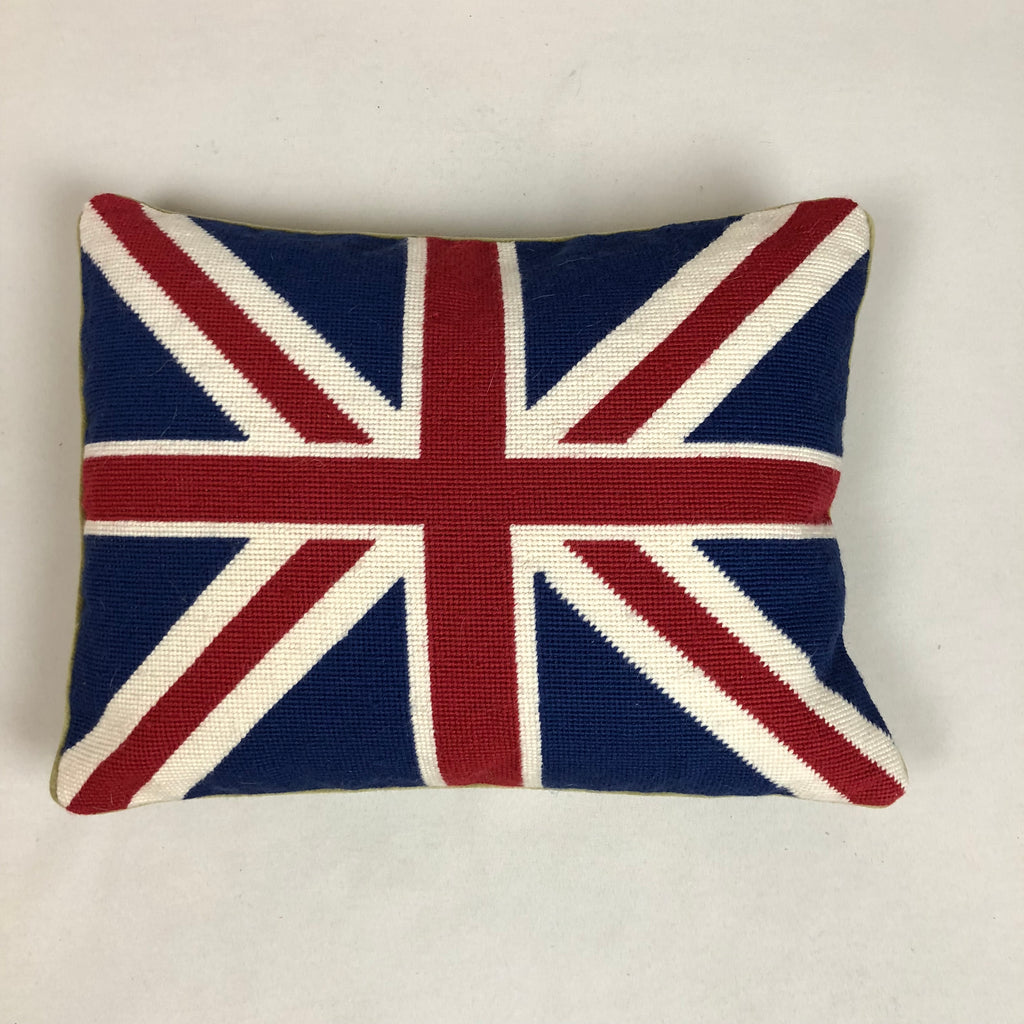Union Jack Flag Needlepoint Pillow